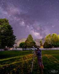 RDK_9403-Edit (Keele_Photography) Tags: park county trees portrait sky usa selfportrait mountains home grass night self ball way private stars landscape utah nikon head tripod tokina mount telescope galaxy series rockymountains saturn 20mm 5000 triplet milky selfportraiture gitzo payson celestron manfrotto meade selfie 80mm antares d600 refractor utahcounty 2inch cg4 skytracker