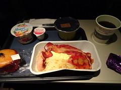 Breakfast (stevenbrandist) Tags: travel food coffee bacon flight meal eggs tray britishairways travelogue