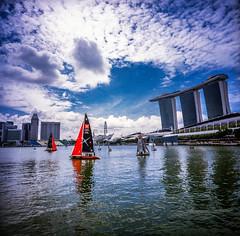 advertisement (mohamedyamin_masop) Tags: lomo lca120 landscape medium format square city urban skyline water bay sailing yachting yacht