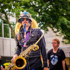 The Sax Player (KPortin) Tags: seattle parade saxaphone solstice fremontsolsticeparade 2016
