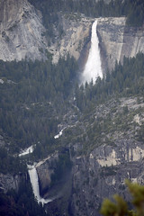 Nevada Fall and Vernal Fall, from Glacier Point,  Yosemite, Mariposa County, California (cocoi_m) Tags: california nature waterfall yosemitenationalpark geology sierranevada glacierpoint yosemitevalley geomorphology springrunoff vernalfall nevadafall mariposacounty merecedriver