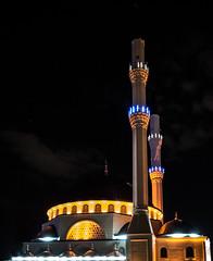 Camii (berkarslan1) Tags: architecture night mosque lightening enlightenment cami