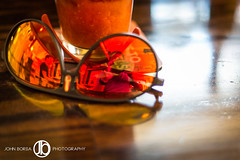 50 Shades of Summer (JohnBorsaPhoto) Tags: wood orange reflection sunglasses bar 50mm mirror photographer cocktail alcohol tavern mirrored bloodymary server carrera selfie 80daysofsummer providencesocial