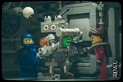 One more minute, my friend! (Priovit70) Tags: lego minifigures space classicspace spacestation cells benny mrrobot kelly olympuspenepl7