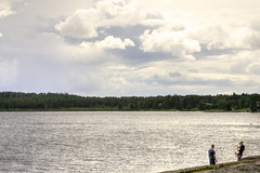 Enjoying The Point (Cindy's Here) Tags: lake ontario canada water clouds canon couple shore lakesuperior thepoint sunnah 52in2016challenge