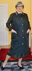 Ingrid022427 (ingrid_bach61) Tags: dress mature kleid kittel pleatedskirt nylonoverall faltenrock