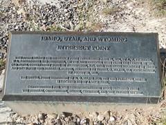 ID-UT-WY Corner Monument Marker (jimmywayne) Tags: monument corner utah border historic idaho wyoming tristate lincolncounty tripoint bearlakecounty richcounty threestate