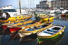 Boats in Napoli (alinavlasova) Tags: trip travel italy color boat europe italia napoli naples