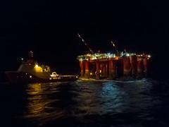 Night Shift (SPMac) Tags: night lights ship crane cd offshore platform shift gas siem anchor oil vs opal navigation accomodation drilling 491 handling borgholm floatel dolphing ahts