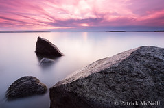Smooth (burntpixel.ca) Tags: longexposure morning pink blue sunset summer orange sunlight lake canada art nature water beautiful horizontal rural sunrise canon spectacular landscape island evening photo rocks long purple fine patrick manitoba photograph 6d mcneill lakewinnipeg hecla heclaisland canon6d wrench777