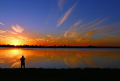 Photographer Sunset (tclaud2002) Tags: blue sunset sky sun beautiful colorful photographer florida capture martincounty palmcity mccartyranchpreserve