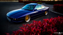 Matts BMW 840 (WatercooledSociety) Tags: low wheels bmw society slammed stance camber airlift 840 bagged watercooled stanced rotiform