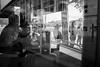 reflection (rdk740) Tags: street city bw blackwhite fuji streetphotography police brno fujifilm monochrom xe2