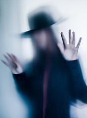 Fear (Lisa Widerberg) Tags: woman man girl hat outside milk trapped scary hands looking fear ghost buh foggy creepy spooky fedora dizzy milky sneeky sneek