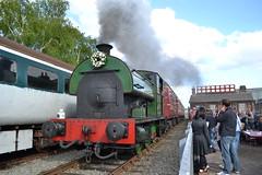 Peckett 0-6-0ST No. 2000 (Will Swain) Tags: uk travel england festival train 2000 britain no derbyshire hill north transport may ale rail railway 16th railways chesterfield barrow 2015 peckett 060st