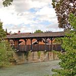 Garmisch - Die Altstadt (15) - Holzbrücke über die Loisach thumbnail