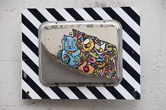 Reflection Oeuvre de Bebar  & Lalasadko (HBA_JIJO) Tags: urban streetart france reflection art wall painting graffiti spray peinture reflet miroir mur vitry vitrysurseine bebar paris94 bbar hbajijo bebarbarie lalasadko