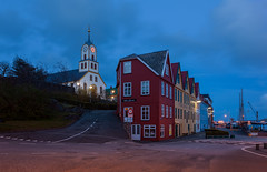 Faroe islands: Torshavn (alexxdarkside) Tags: blue islands hour faroe torshavn faroes froyar