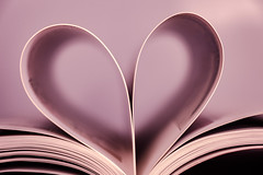 reading heart - 147/366 (auntneecey) Tags: pink macro paper book heart pages cliche odc day147366 366the2016edition 3662016 26may16 supercalafragalisticexpialadoshus