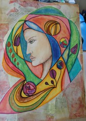 art journal (redlizzy2) Tags: mixed media acrylic artjournay