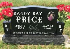 Price Headstone (eloisedv) Tags: oklahoma cemetery headstone gravemarker cartercounty lonegrove