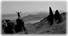Old man of storr (Nicolas Valentin) Tags: blackandwhite mountain skye rock scotland portree oldmanofstorr nicolasvalentin