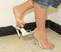 Heel Dangle (Jaylynn's Best Feeture) Tags: sexy feet female toes highheels sandals arches heels soles toering ankles footfetish heelfetish