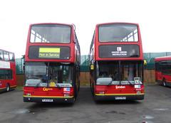 GAL PVL59 W459WGH - PVL362 PJ53SOE - FRONT - BX BEXLEYHEATH BUS GARAGE - SAT 19TH MAR 2016 (Bexleybus) Tags: bus london ahead volvo kent garage president go learner bexleyheath bx goahead plaxton pvl59 w459wgh pvl362 pj53soe