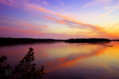 It crawled away (braveis) Tags: sunset sea sky water landscape evening sweden stockholm outdoor