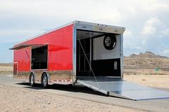 Need a more gradual angle to load your car? Problem solved! #beckercustomtrailers #aluminumtrailer #atctrailers #racecar #rampextension #carhauler #escapedoor #stainlesssteeltrim #salemvents #rearspoiler #extrudedflooring  #raceramps (Becker Custom Trailers) Tags: door atc race racecar aluminum ramp escape steel rear ramps salem extension trailer custom flooring trim trailers stainless vents spoiler becker extruded carhauler