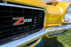 Z28 (GmanViz) Tags: color detail chevrolet car 1971 nikon automobile camaro bumper badge headlight grille z28 gmanviz d7000