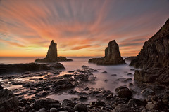 Forever Young (EmeraldImaging) Tags: longexposure seascape clouds sunrise rocks sydney australia le nsw kiama cathedralrock wollongong cathedralrocks