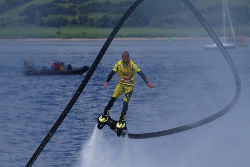 Sonnie Bean, on the Flyboard
