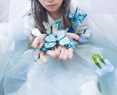 Silence (bdrc) Tags: silence moon nikco themed portrait bathtub water flower butterfly soft tender