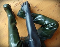 Appendages in rubber. (essex_mud_explorer) Tags: boots gates rubber thigh gloves hunter rubbergloves waders gummistiefel thighboots gauntlets cuissardes madeinscotland watstiefel coarsefisher thighwaders marigoldemperor