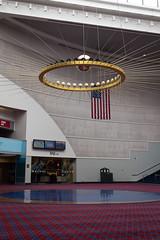 DSCF5870.jpg (mikepirnat) Tags: sculpture usa art architecture oregon portland carpet flag conferences pendulum pycon oregonconventioncenter pycon2016