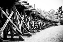 The Amount Of Work Is The Same (unflux) Tags: railroad bridge ties rails train trains wv west virginia work harpers ferry texture repetition vanishing point