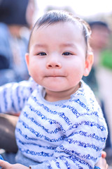 Portrait of baby (HIKARU Pan) Tags: china boy baby cute vertical outdoors asia shanghai chinese lovely 50l 1dx canonef50mmf12lusm eos1dx