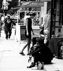 Cafe & Wine Bar (Professor Bop) Tags: street newyorkcity lowereastside manhattan bw blackandwhite professorbop drjazz canonpowershots3is