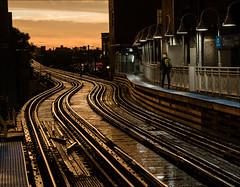 After the Evening Storm (0029911) (Kurt Kramer) Tags: sunset urban wickerpark chicago rain cityscape blueline el damen