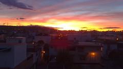 Sunset in Aljarafe (Sevilla - Spain) (Pau LaRoM) Tags: pink houses sunset sky espaa sun sevilla andaluca spain streetlights hill espana cerro cielo casas farolas colinas santiponce aljarafe itlica