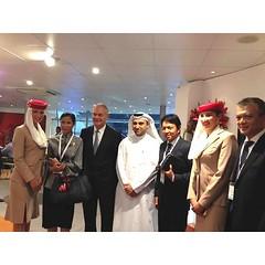 [6/5/2015] เชิญชวนให้ชาวตะวันออกกลางหนีร้อนมาเที่ยวไทย ในงานงานอาราเบียน ทราเวล มาร์เก็ต (เอทีเอ็ม) 2015  ที่เมืองดูไบ สหรัฐอาหรับเอมิเรตส์    #kobkarnofficial #ArabiaTravelMarket #Dubai