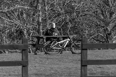End of the road (Ginger Snaps Photography) Tags: white black canon bench eos cycling scotland highland inverness 70d dochgarroch