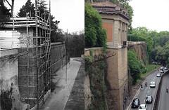 Ascensore per il Pincio - http://bit.ly/1Q2uv2g (Roma Ieri Oggi) Tags: old rome roma foto layers merge rephotography pincio vecchie nuove sovrapposizione murotorto romaierioggi