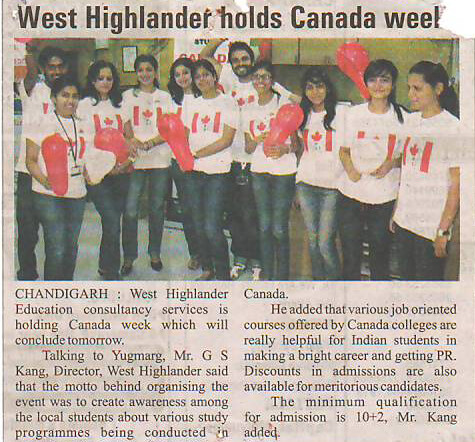 West Highlander Holds Counselling for Study in Canada