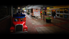 Mr. Red Car (JEFF CARR IMAGES) Tags: cityscapes shoppingmall cinematic ashtonunderlyne northwestengland towncentres