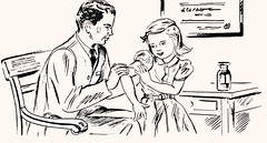 Vaccination today is just as important as yesterday (katinthecupboard) Tags: 1948 1938 biology microbiology vaccination immunization vintageillustrations vintagesciencetextbook childrensbiology