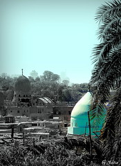 Domes of City of the Dead-Cairo     (Nadia Rifaat) Tags: cemetery egypt graves cairo tombs necropolis mosques islamicarchitecture  mausoleums cityofthedead   nationalfigures  historicalfigures        nikoncoolpixl830