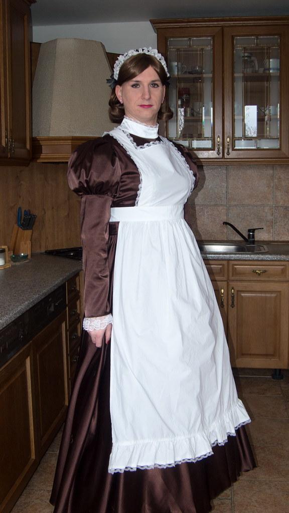 White Satin Maids Dress