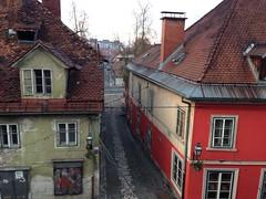 Hrenova ulica from Gornji trg, Ljubljana, Slovenia (Paul McClure DC) Tags: architecture historic slovenia ljubljana slovenija feb2014